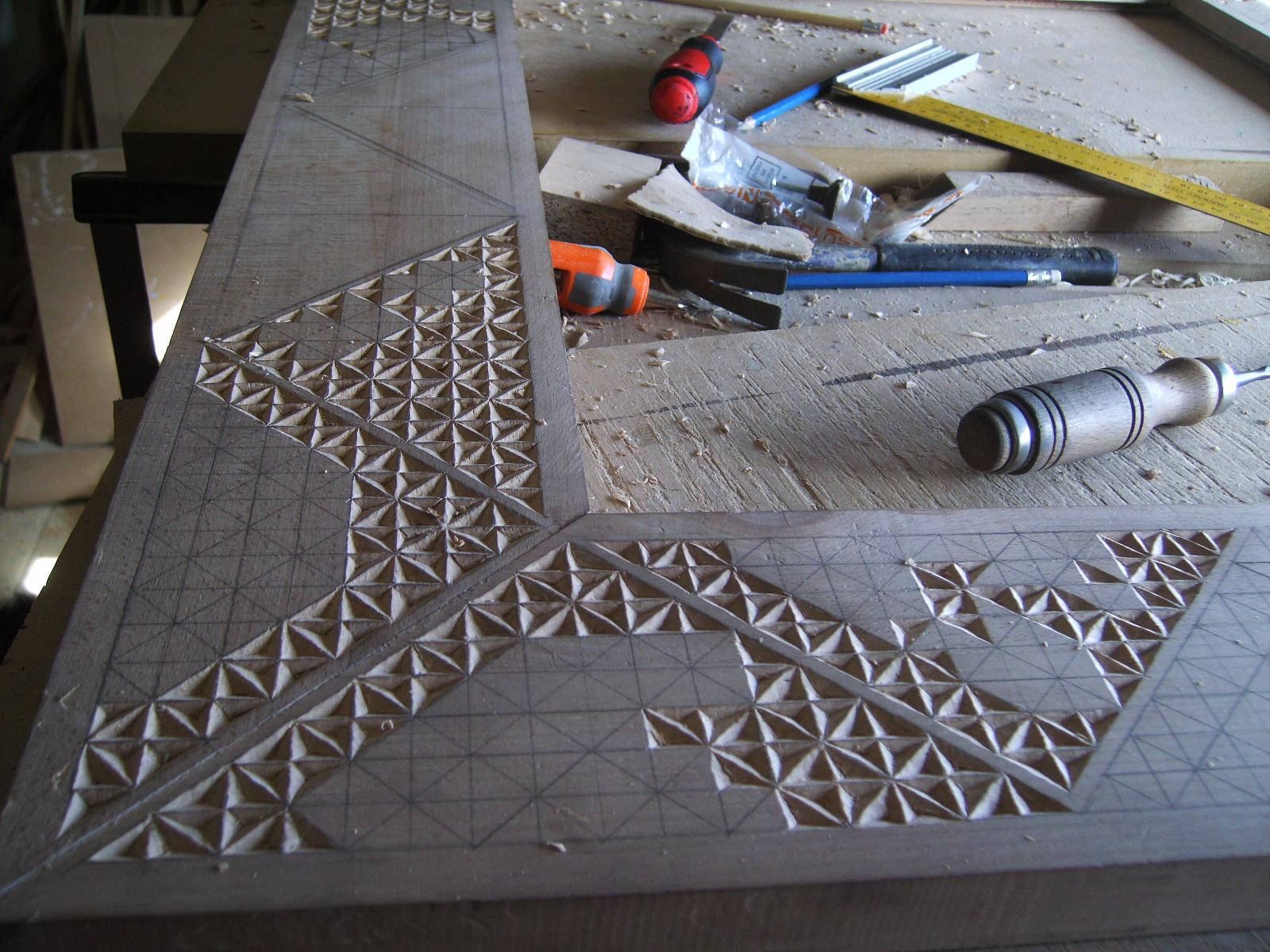 Artesanía en Madera TOPE Y CUÑA, trabajo de talla marco espejo ...