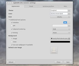 LightDM GTK+ Greeter Settings