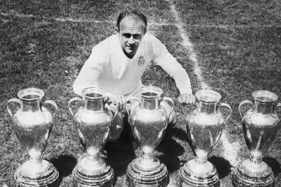 Alfredo Di Stéfano, Real Madrid, 5 Taças dos Clubes Campeões Europeus