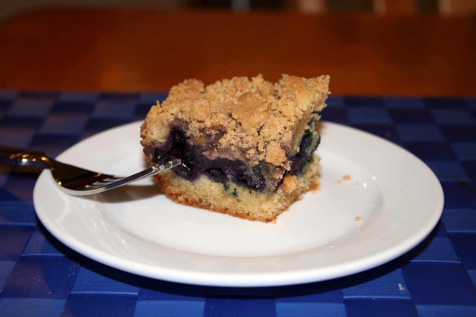 one clever mom: Blueberry Big Crumb Coffee Cake
