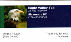 Eagle Valley Taxi 250-836-0044