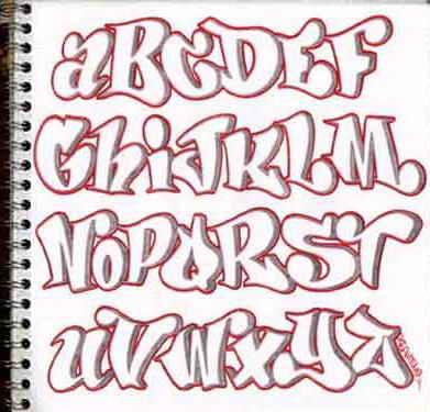 Etiquetas: Alfabeto , Alfabeto Graffiti , Alphabet , Graffiti Alphabet