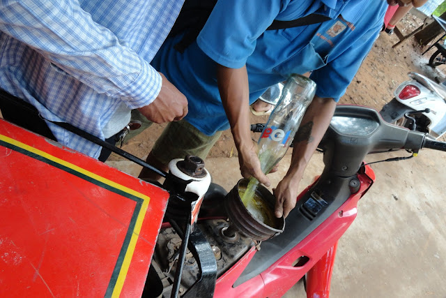 Getting Gasoline in Siem Reap