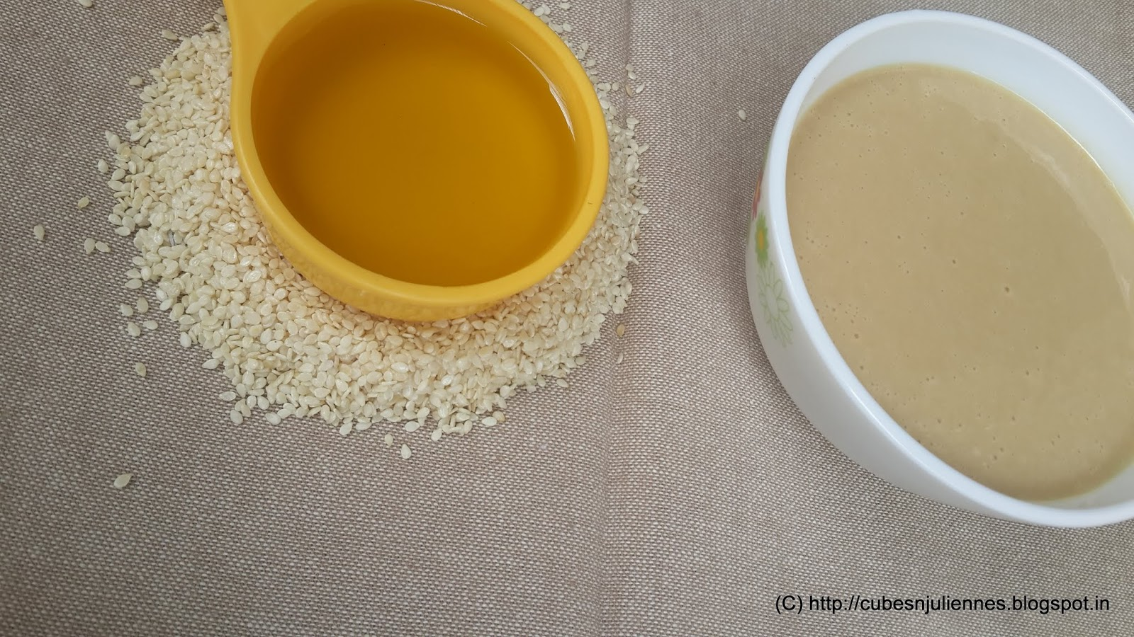 HOW TO MAKE TAHINI PASTE AT HOME - Cubes N Juliennes