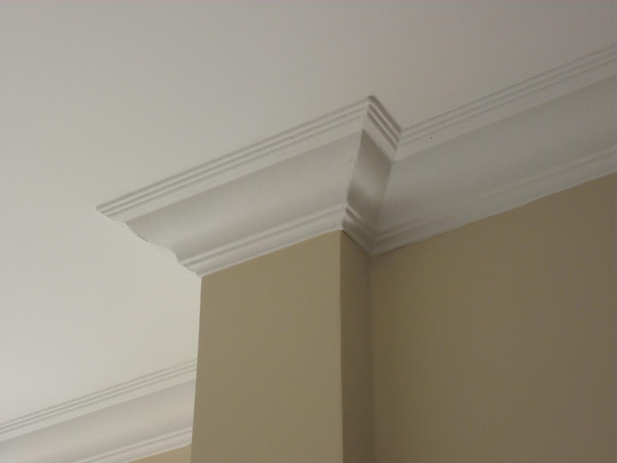 Pintura y madera colocacion de cornisas de poliestireno o - Molduras para techos interiores ...