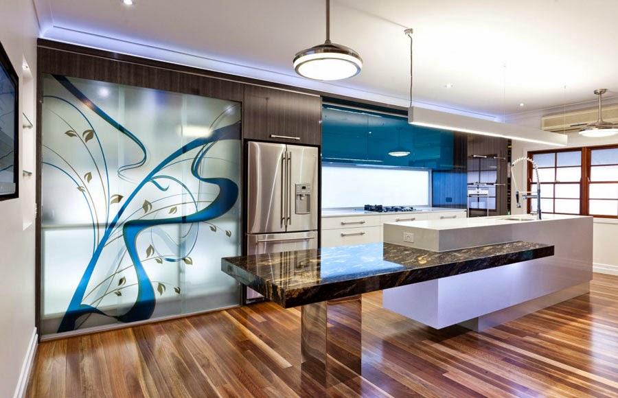 Ideas de islas para cocinas modernas para cocinas de gran for Barras modernas para living