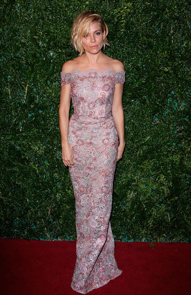 Sienna Miller Style inspiration 2015 pink dress
