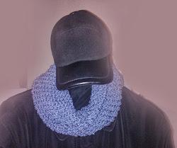 Мужской шарф трубой крючком