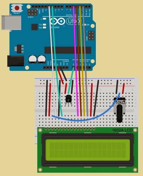 Yasemin Den Inciler Arduino Lm35 Sensoru Ve Lcd Ekran Ile