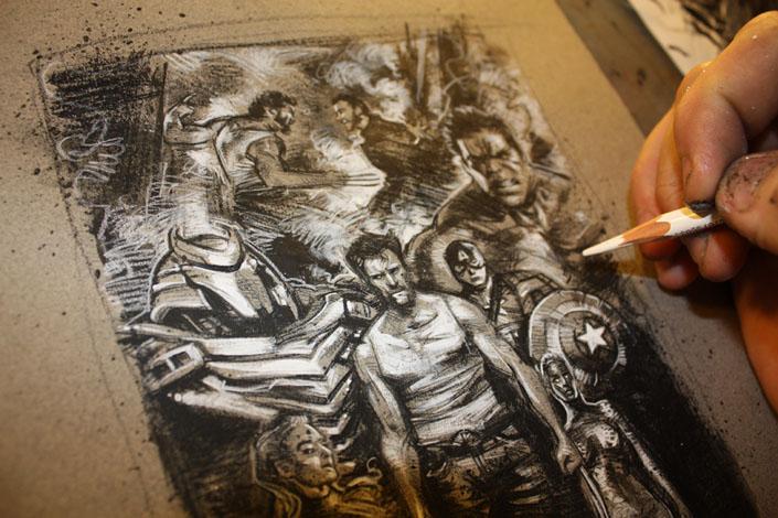 Wolverine Artwork, Copyright © 2014 Jeff Lafferty