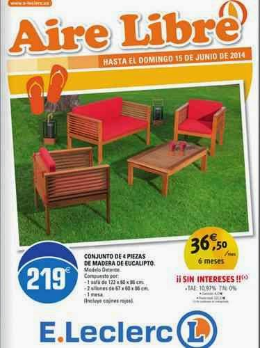ofertas eleclerc aire libre 6-14