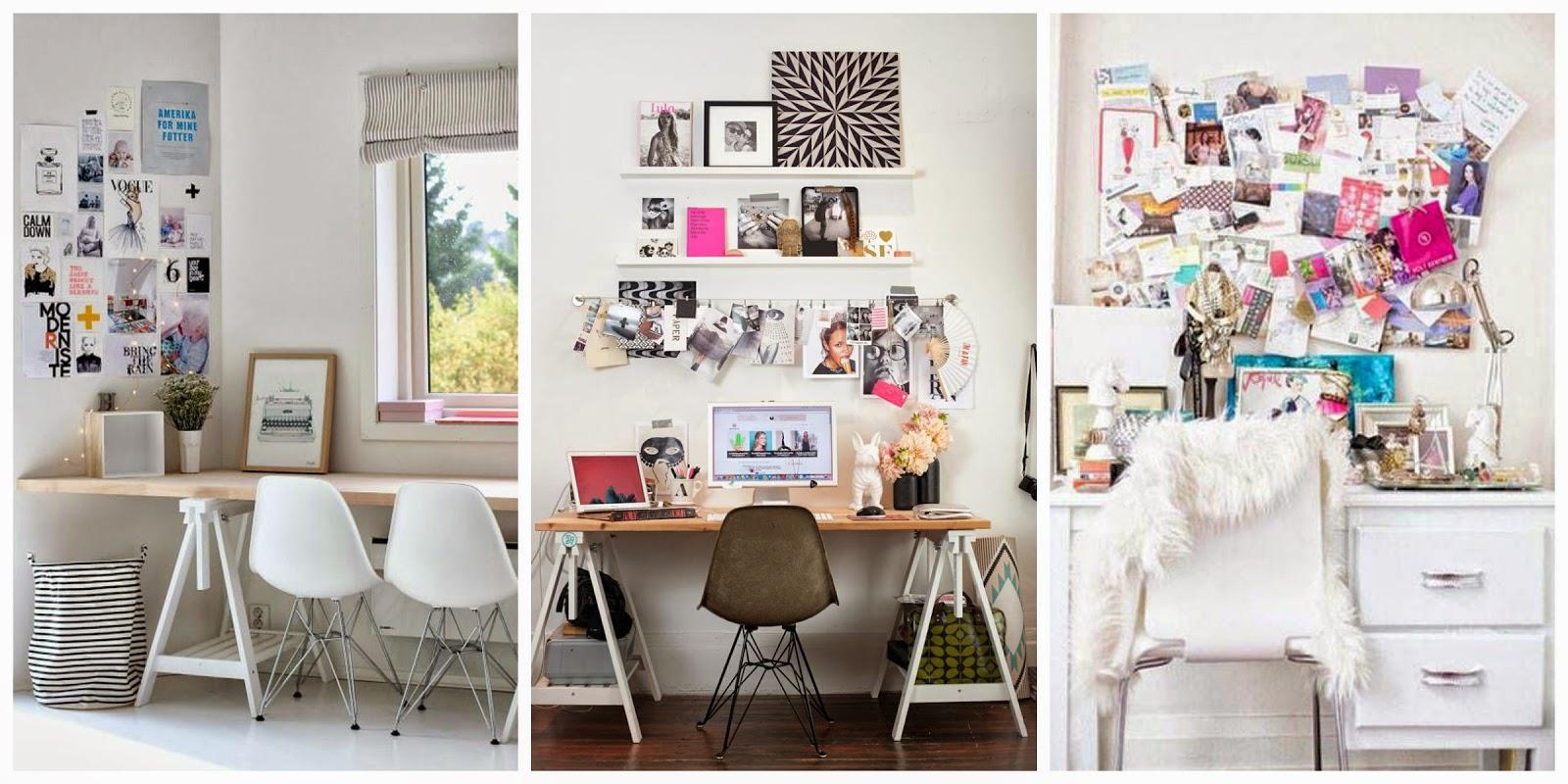 Femmelien 5 x bureau decoratie - Decoratie bureau travail ...