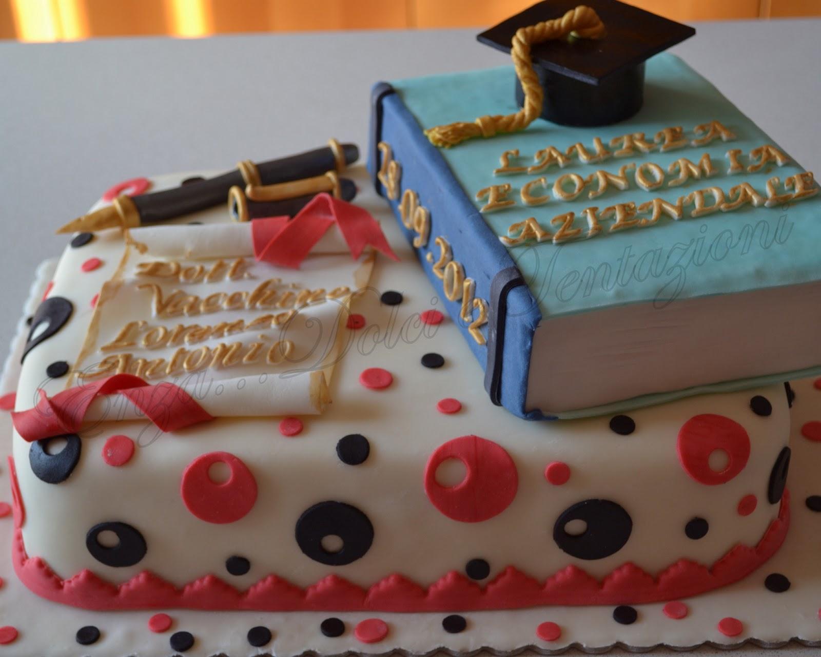 Popolare dolci-decorazionietentazioni: Torta per Laurea in Economia AZ68