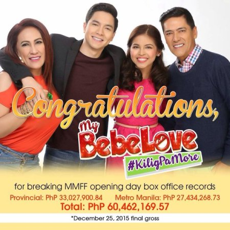 My Bebe Love breaks MMFF 2015 first day box office gross