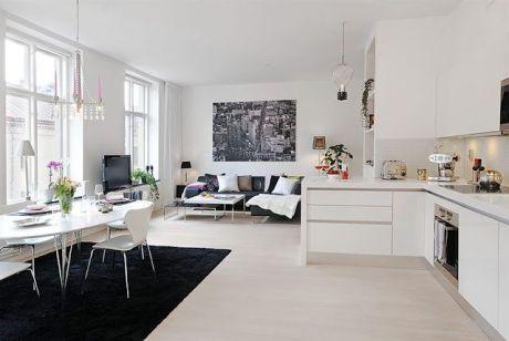 Diseños de sala comedor y cocina ~ decoración de interiores de casas