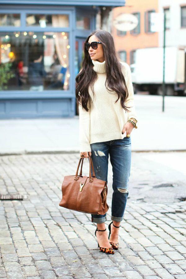 Suéter com jeans