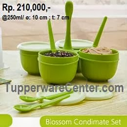 Blossom Condimate Set, Tupperware Indonesia
