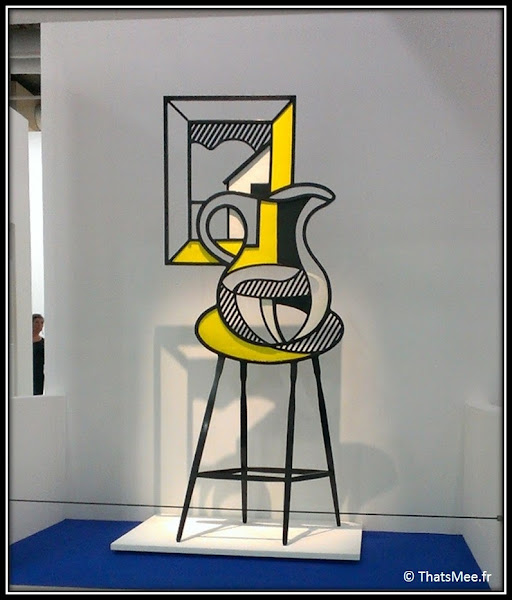 Roy Lichtenstein Sculpture Picture and Pitcher, Centre Georges Pompidou Beaubourg