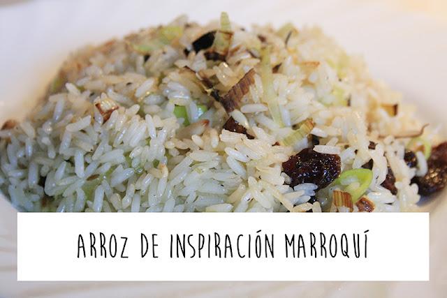 Receta de arroz de inspiración marroquí
