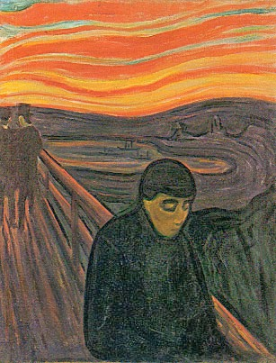 despair edvard munch Munch's despair was a premonition of yet another juncture of existential fears: where are we now, when we have nowhere to go  you exit edvard munch's exhibition and step into trump's america.