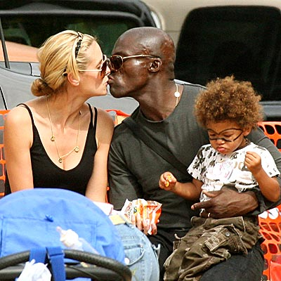 heidi klum and seal family. heidi klum and seal and family