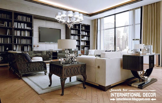Stylish Art Deco Living Room Interior Design Style And Furniture Apartments London