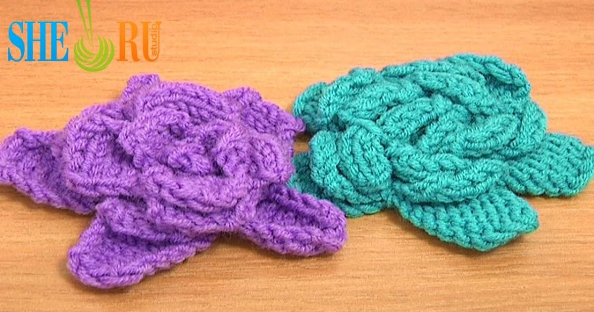 Knitting Patterns For Easy Flowers : Sheruknitting: Easy to Knit Rose Flower Tutorial