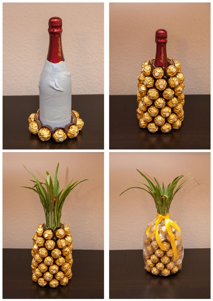 Good Wedding Gifts For Someone Who Has Everything : Mitbringsel: Rocher-Sekt-Ananas