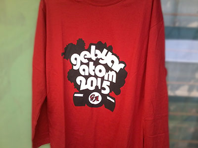 Sablon Kaos Gebyar Atom 2015