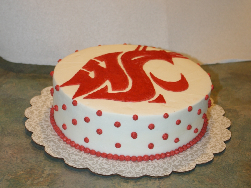 Party Cakes: Go Cougs! WSU Birthday Cake