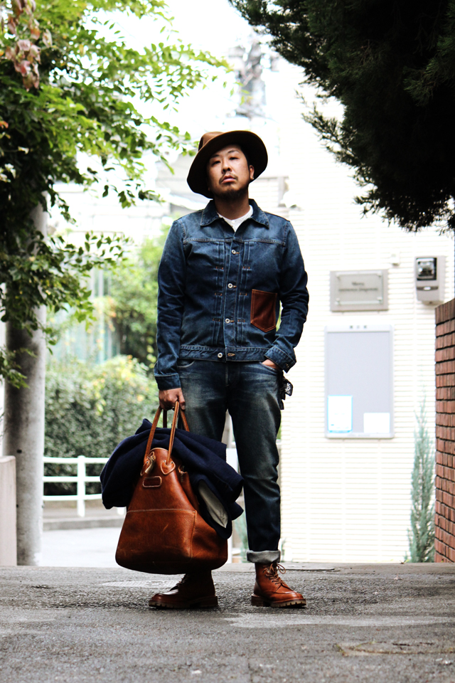 "Nisus Hotel ""Leather Pocket Selvedge Denim Jacket"" 37,800yen ナイサスホテル"