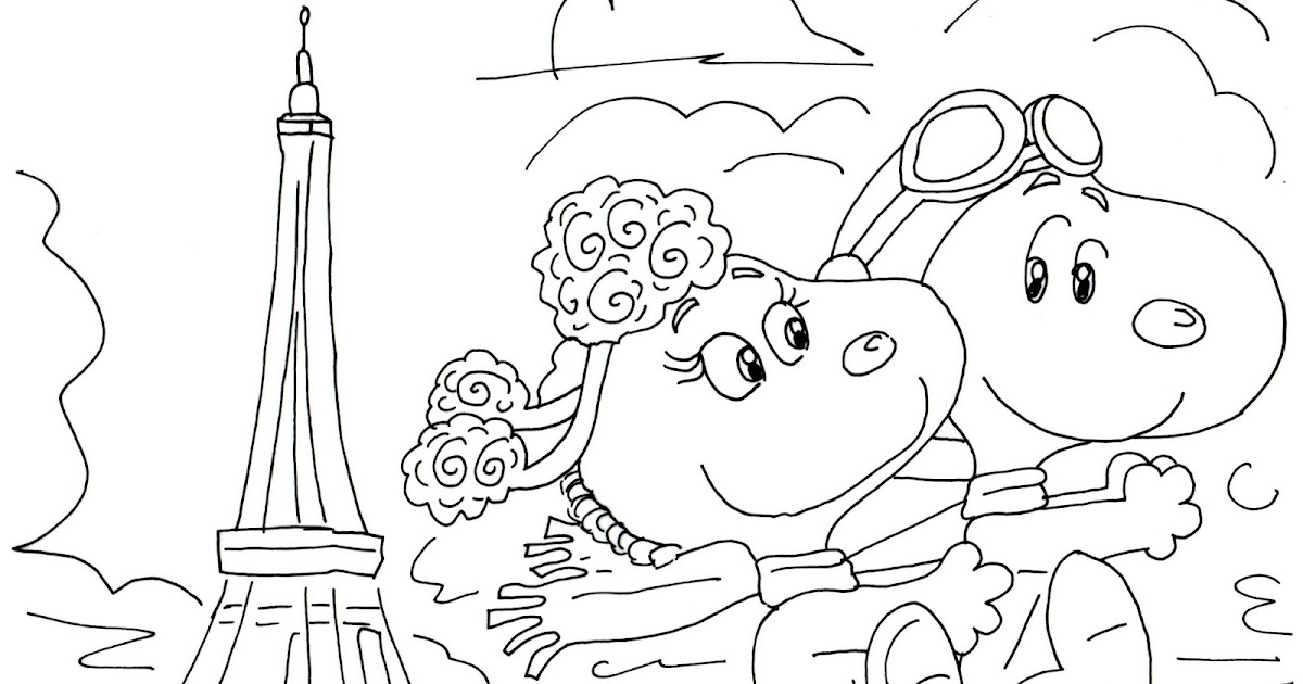 Free charlie brown snoopy and peanuts coloring pages fifi for Snoopy coloring page