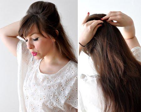 Обемна прическа за дълга коса