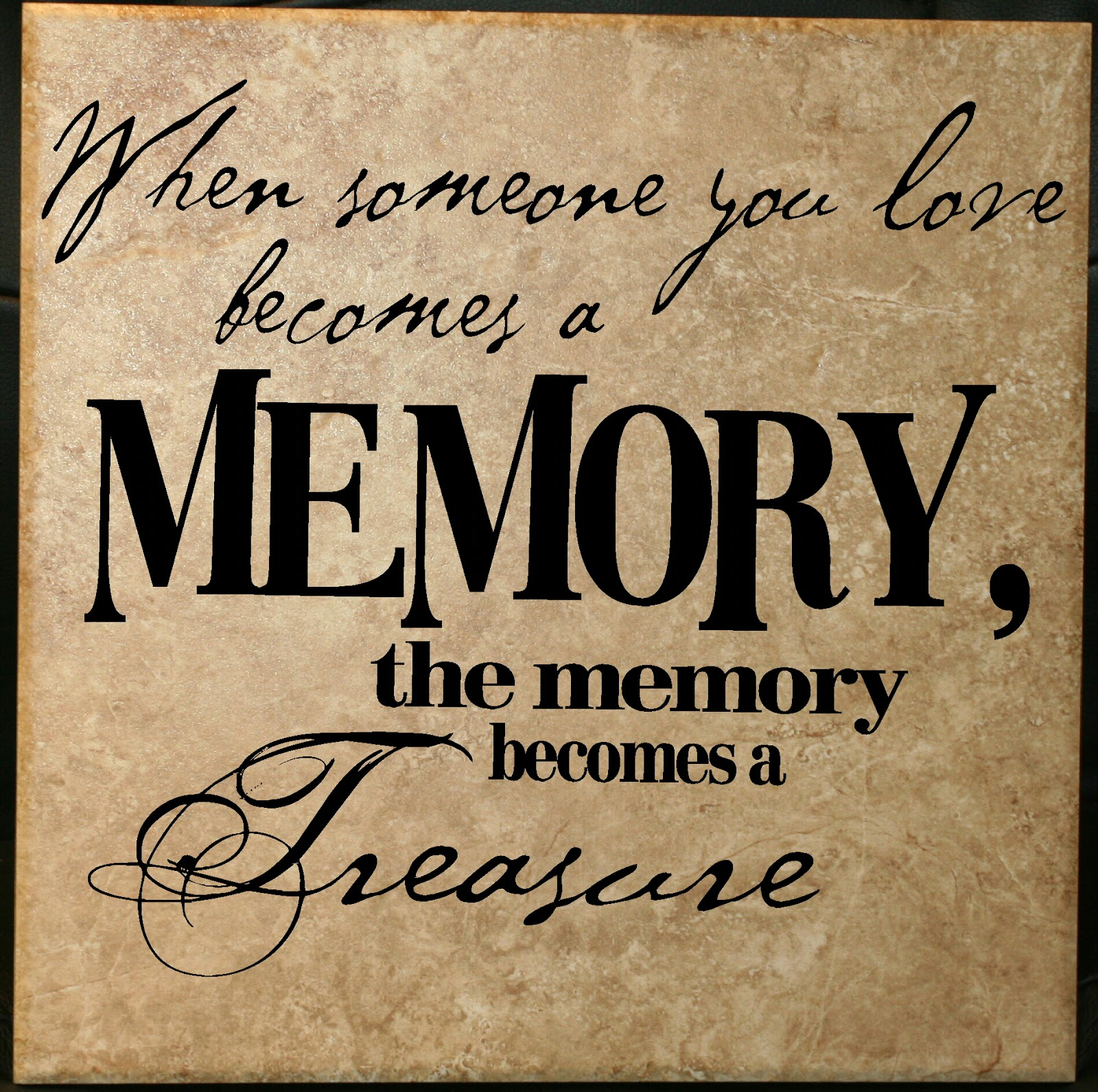 Decorating with Wall Vinyl: In Memory and Sympathy Quote ...
