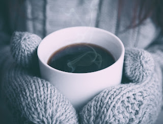 winter and a hot cup of coffee