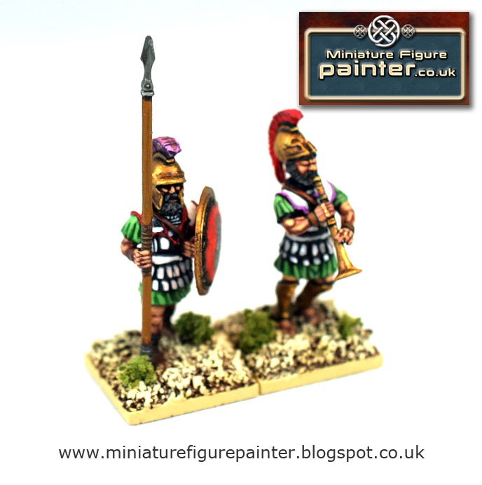 Two 28mm Athenian Armoured Hoplites 5th to 3rd century BCE painted by Miniature Figure Painter
