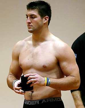 News Trend  Tebow shirtless