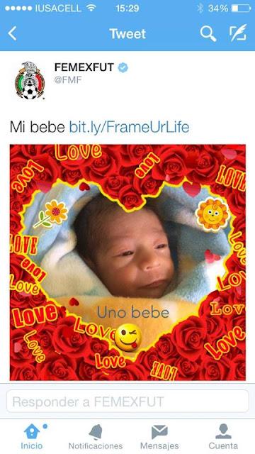"""Error de Tuit: Femexfut presenta """"a su bebé"""" en Twitter; burlas entre usuarios de redes"""