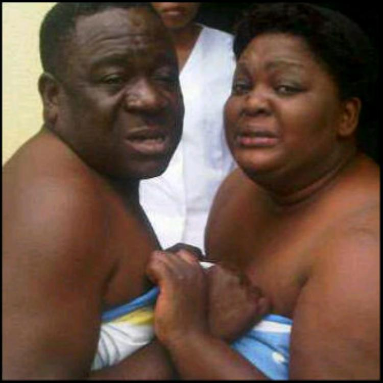 Photo Of The Day : Mr Ibu & Eniola Badmus