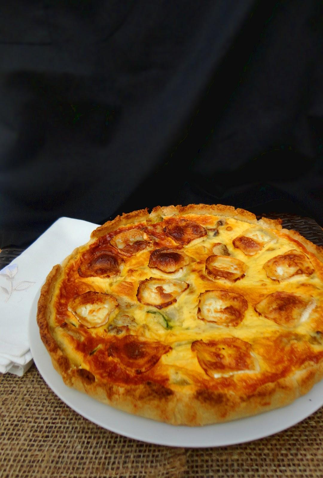 cocinaros quiche de verduras y queso de cabra On quiche de verduras y queso