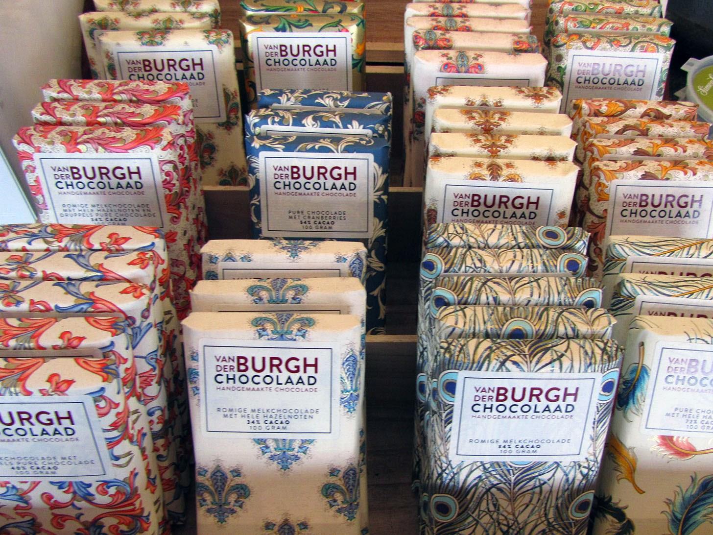 van den Burgh chocolaad, chocolate