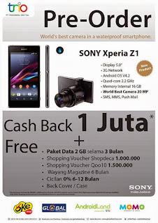 Promo Sony Xperia Z1 PreOrder