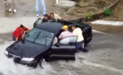 Men swept away by flood trying to help selfish woman