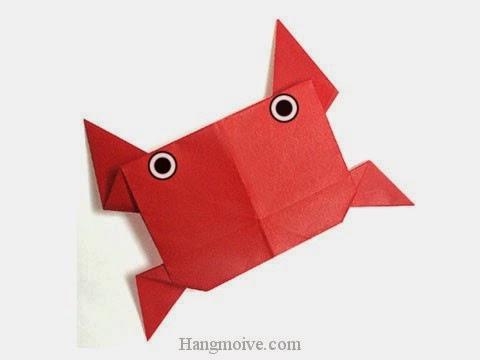Cách gấp, xếp con cua bằng giấy origami - Video hướng dẫn xếp hình sinh vật dưới nước - How to fold a Crab