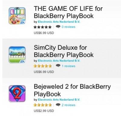 Blackberry Bagi-Bagi Games Gratis dari EA, Ini Daftarnya