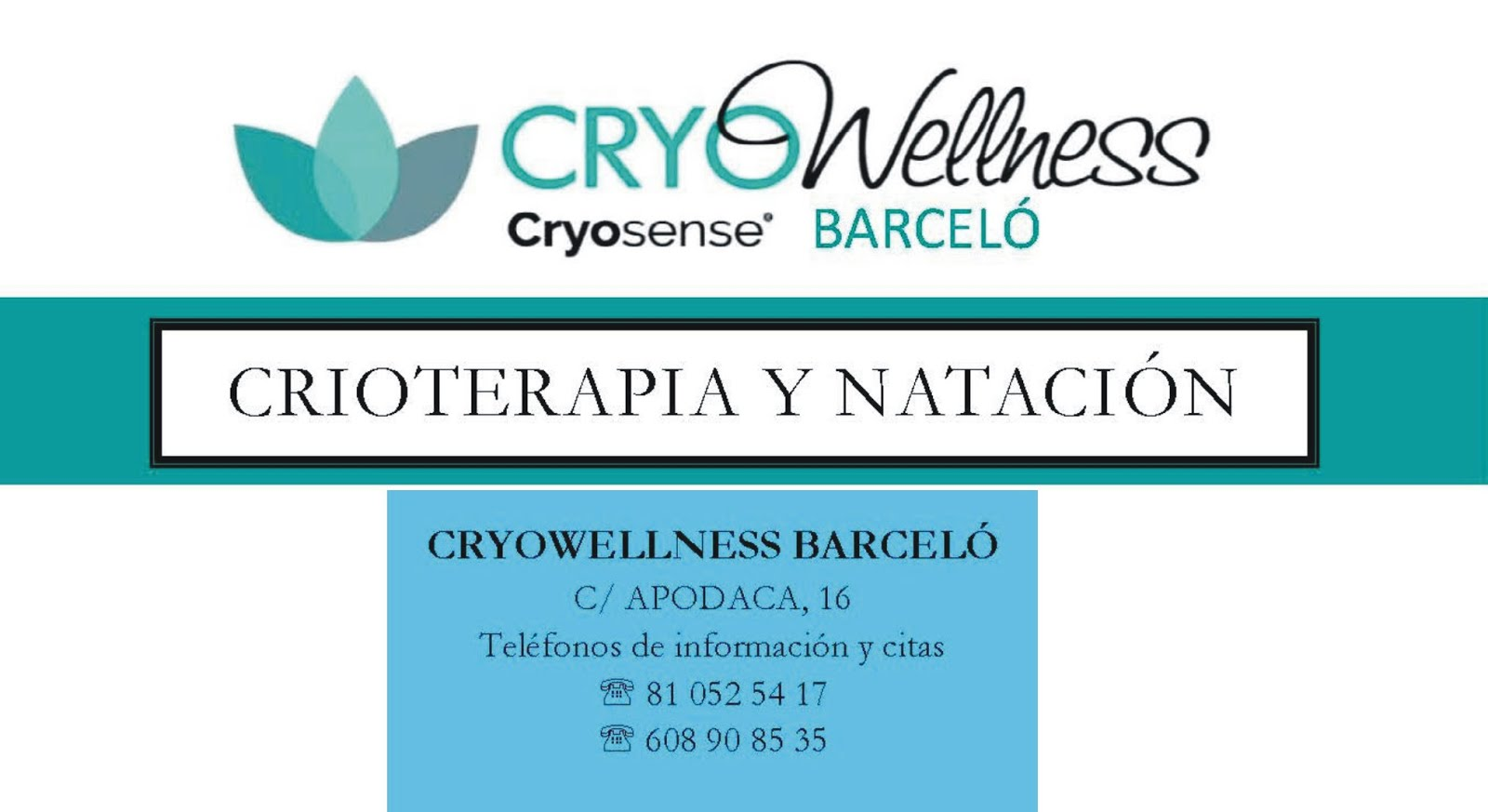 CRYOWELLNESS BARCELÓ