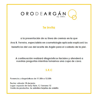 Oro de Argan: Presentación de una nueva línea de cremas