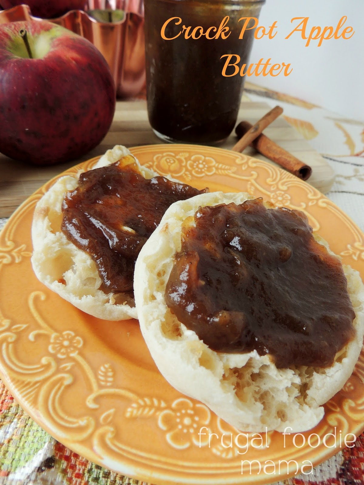 Homemade Crock Pot Apple Butter via thefrugalfoodiemama.com - this ...