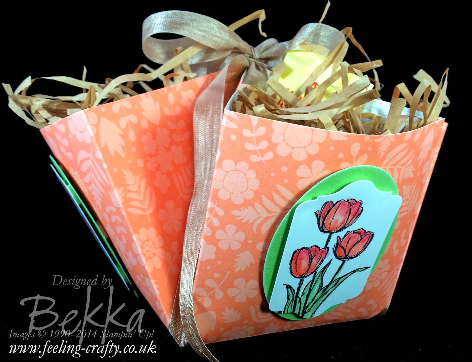 This treat basket would be ideal for Mother's Day or Easter - check out this blog