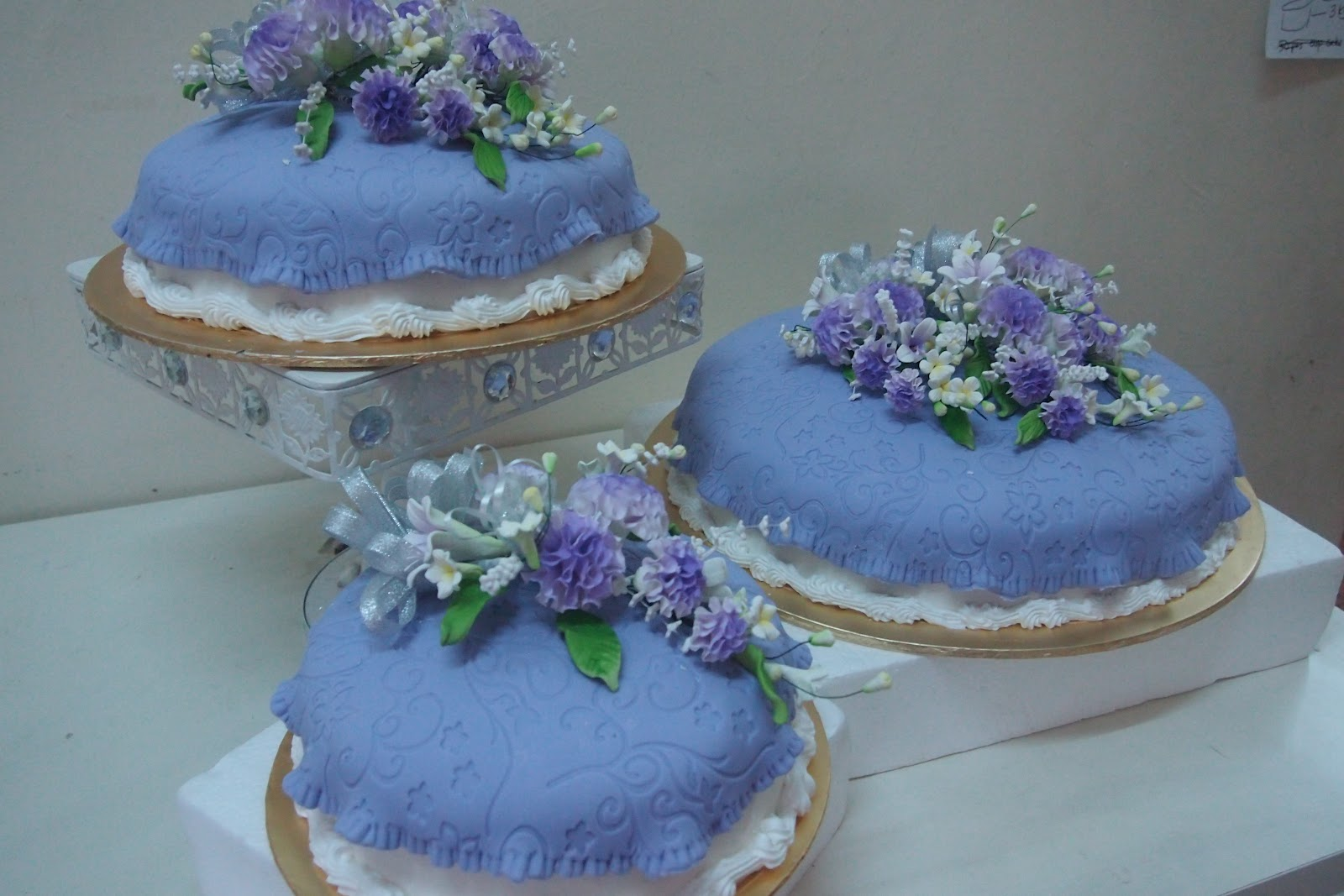 AniesBakeHouse Exclusive 3 tier Wedding Cake Purple